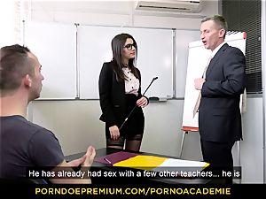 porn ACADEMIE - lecturer Valentina Nappi MMF 3some