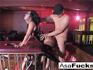 Sophia Santi munches Asa Akiras Creampied Pussyhole