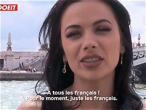 LETSDOEIT - Romanian bombshell Creamed By a French fuckpole