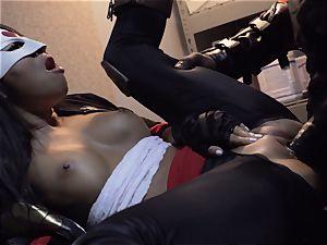 Suicide team parody Sn 4 Ada Akira riding ebony manhood