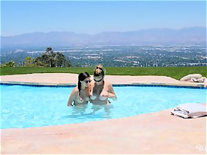 Shyla Jennings and Ryan Ryans after pool gash party