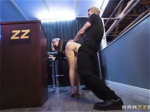 Bailey Brooke gets frisky with the hung bouncer