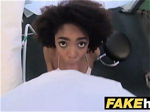 faux polyclinic medic gives marvelous ebony brazilian student