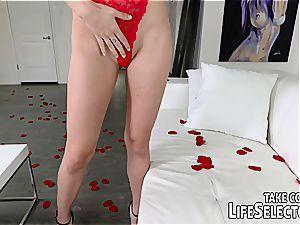 Valentine's Day home porno with Adria Rae