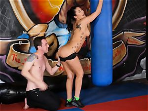 chinese sweetheart London Keyes humps her dude after a exercise