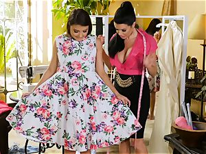 Adria Rae seduced by spectacular seamstress Veronica Avluv