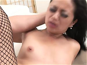 lucky Starr bounces her wet twat on this rock-hard trouser snake