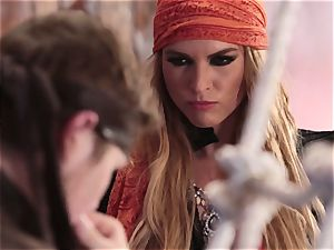 bukkake facial for marvelous pirate Keira Nicole