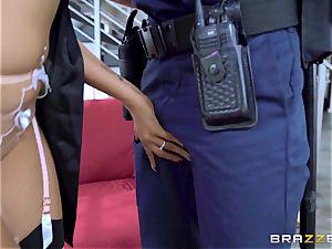 Romi Rain strange wish getting poked by the policeman