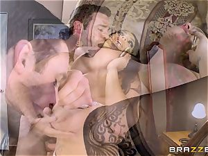 enormous boobed Alison Tyler pummels her lover as she speaks to her dude