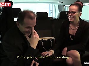 amazing lovemaking In cab taxi with Czech stunner Samantha Joons