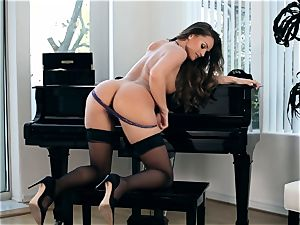 fantastic Tori dark-hued jacks on a piano
