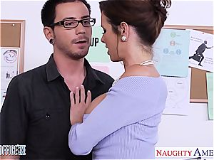 Stockinged Veronica Avluv ravage in the office