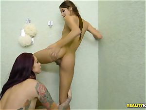 Rich chick Monique Alexander tempts the bashful timid latino maid
