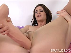 Cici Rhodes penalizes her rosy twat with aggressive fuck sticks