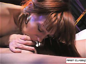 first Class pov - Alexa Nova throating a giant prick in pov