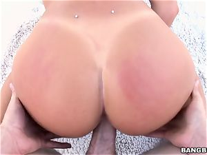 August Ames taking a big pipe in her dirty twat