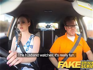 fake Driving college Nerdy ginger-haired teenage schoolgirl