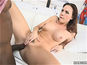 Chanel Preston getting cooch stretched by a black cock