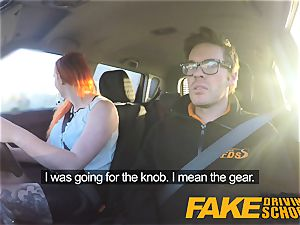 fake Driving school inked sandy-haired hankers a ample lollipop