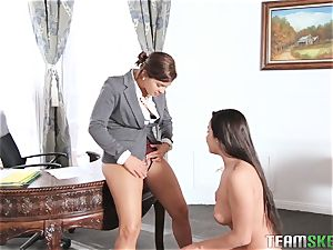 Keisha Grey displaying Karlee Grey whose manager