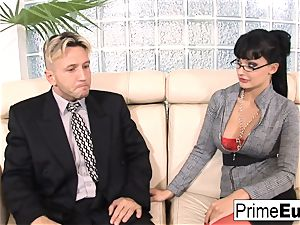 Aletta Ocean gets anally screwed on the bed