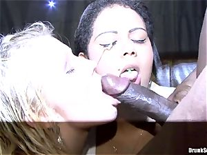 Bibi Fox and toasted friends love ebony come on face