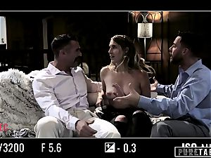 pure TABOO babe Tricked Into revenge 3 way with Strangers