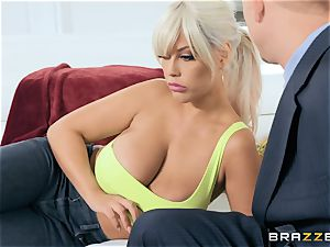 Bridgette B tearing up her husbands boss