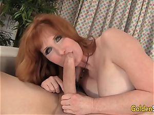 Mature ginger-haired Freya Fantasia Is plumbed