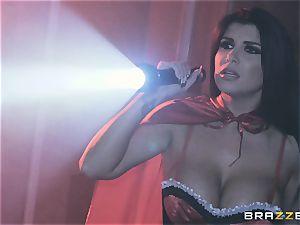 spunk longing vampiress Angela milky sharing penis with Romi Rain