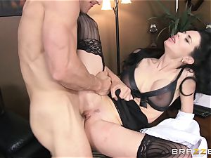 Veronica Avluv gets dirty in the office and her manager finds out